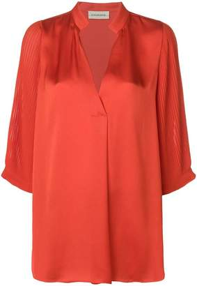 By Malene Birger pleated sleeve blouse
