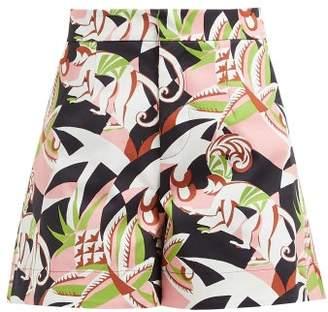 La DoubleJ Good Butt Monkey Print Cotton Blend Shorts - Womens - Black Pink