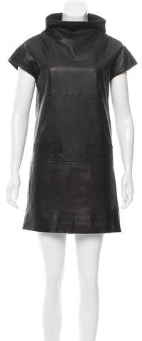 Marc by Marc Jacobs Leather Mock Neck Dress