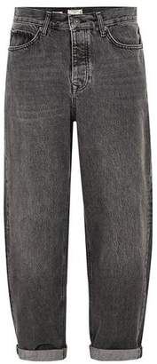 Topman Mens Black Baggy Fit Jeans