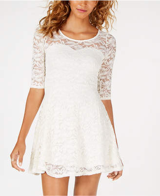 Material Girl Juniors' Lace Sweetheart Dress, Created for Macy's