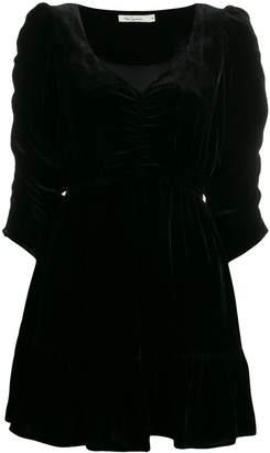 Mes Demoiselles Magenta velvet dress
