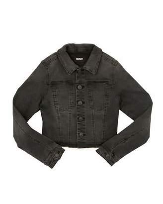 Hudson Nia Cropped Raw-Hem Denim Jacket w/ Sequin Stars, Size S-XL