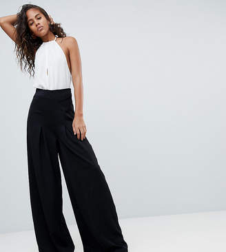Missguided Tall Pleat Wide Leg Trouser