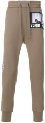 Helmut Lang birds patch jogger pants