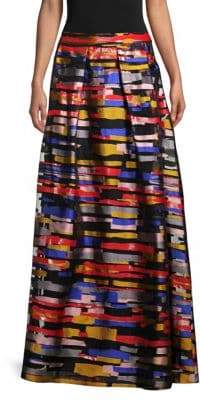Escada Reeda Multicolored Maxi Skirt