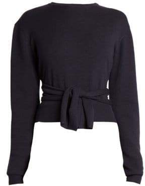 Cédric Charlier Crewneck Wrap Sweater
