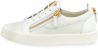 Giuseppe Zanotti Men's Patent Leather Low-Top Sneakers