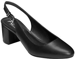 Aerosoles A2 by Slingback Pumps - Silver Age