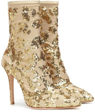 Gianvito Rossi Exclusive to Mytheresa Daze sequined ankle boots