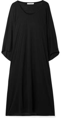 The Row Serlyn Oversized Stretch-jersey Dress - Black