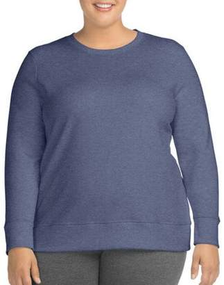 Just My Size Women's Plus-Size Crewneck Sweatshirt