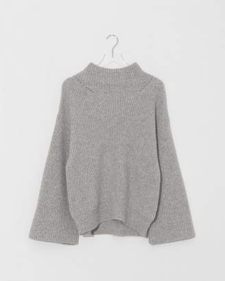 Nili Lotan Light Grey Melange Ronnie Sweater