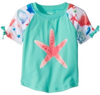 Hatley Ocean Treasures Short Sleeve Rashguard Girl's Swimwear