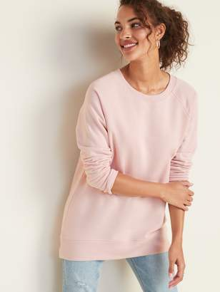 Old Navy Boyfriend French Terry Tunic Sweatshirt for Women