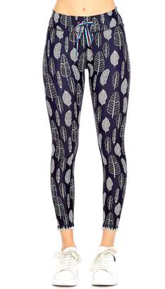 The Upside Gypsy Feather Ankle Leggings