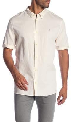 AllSaints Mauna Short Sleeve Woven Regular Fit Shirt