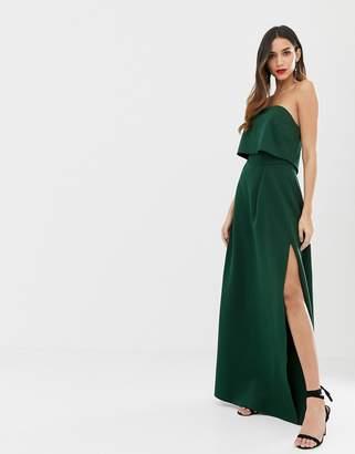 Asos Design DESIGN bandeau crop top maxi prom dress