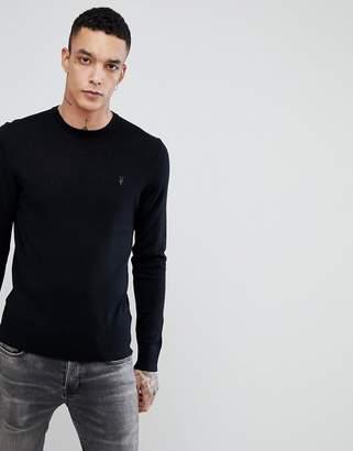 AllSaints Merino Crew Neck Sweater With Logo