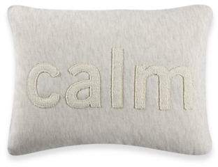 Kenneth Cole Reaction Home Mineral Calm Oblong Throw Pillow in Oatmeal