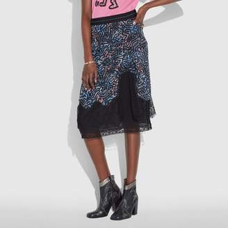 Coach X Keith Haring Long Crochet Skirt