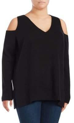 Rachel Roy Cold-Shoulder Sweater