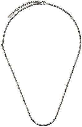 Saint Laurent snake chain necklace