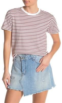 Derek Lam 10 Crosby Short Sleeve Ruffle Hem T-Shirt