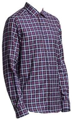 Saks Fifth Avenue COLLECTION Multicolor Boucle Check Shirt