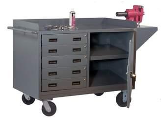 Durham Manufacturing Mobile 65''W Steel Top Workbench