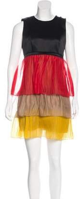 Jonathan Saunders Pleated Silk Dress