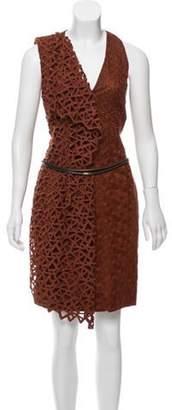 Akris Silk-Lined Sleeveless Dress Brown Silk-Lined Sleeveless Dress