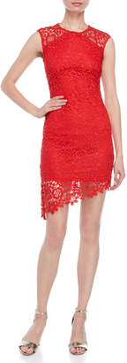 Bebe Embroidered Lace Sheath Dress