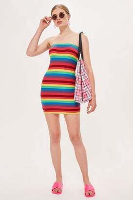 Topshop Rainbow Bandeau Dress