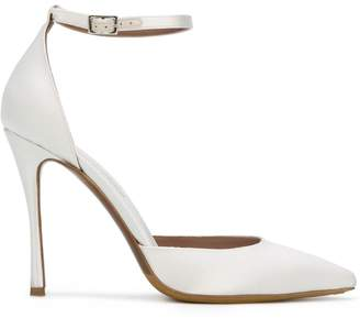 Tabitha Simmons pointed toe side buckle pumps