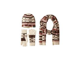 Woolrich Beanie Scarf Gloves Set