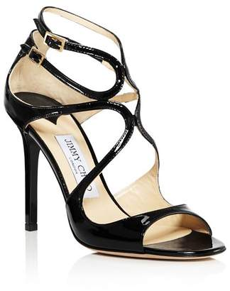 Jimmy Choo Women's Lang 100 Patent Leather High-Heel Sandals