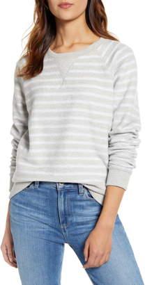 Lucky Brand Brushed Stripe Sweatshirt