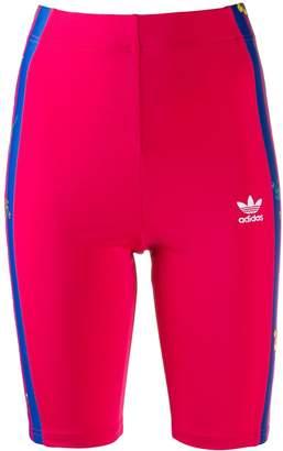 adidas striped floral running shorts