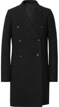 Rick Owens Double-Breasted Mélange Virgin Wool-Blend Coat