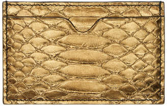 Alexander McQueen Bronze Python Card Holder