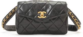 Chanel (シャネル) - Luxury Brands Vintage Bags & Accessories CHANEL ラムレザー ウエストポーチ ブラック
