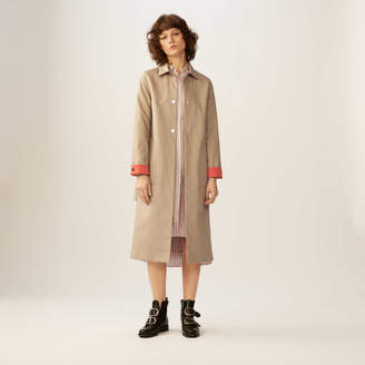 Maje Reversible two-tone trench coat
