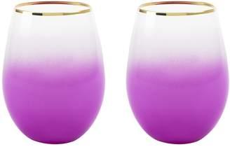 Blush Lingerie Bougainvillea Stemless Wine & Cocktail Glasses (Set of 2)