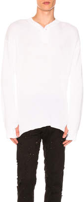 Ann Demeulemeester Knit Pullover in White | FWRD