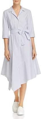 Lafayette 148 New York Casimir Striped Midi Shirt Dress
