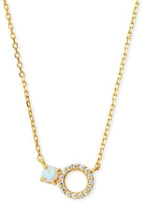 Tai Mini Opal Circle Pendant Necklace