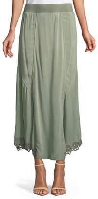 XCVI Elica Eyelet-Trim Long Skirt