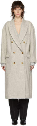 Isabel Marant White Habra Coat