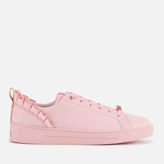 a94ddc257 Ted Baker Women s Astrina Leather Low Top Trainers - Mink Pink